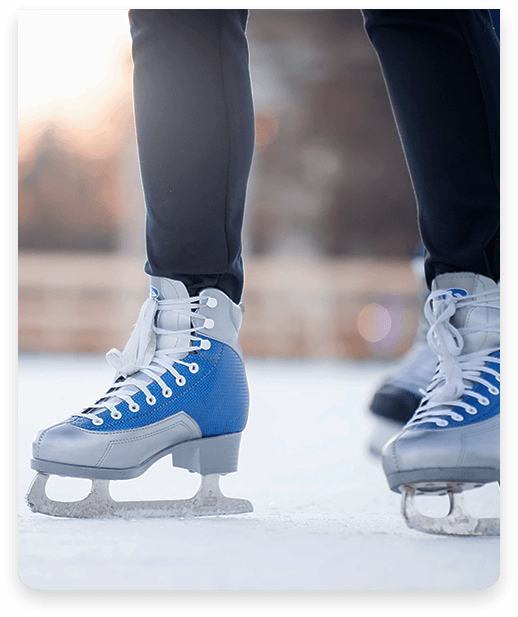 Person ice skating