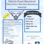 Owatonna Fly-in French Toast Breakfast