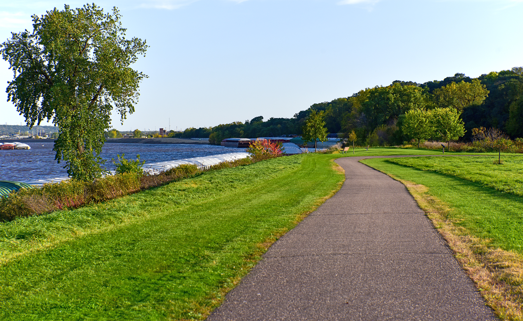 Mississippi River Greenway Trail at Kaposia Landing in South St. Paul