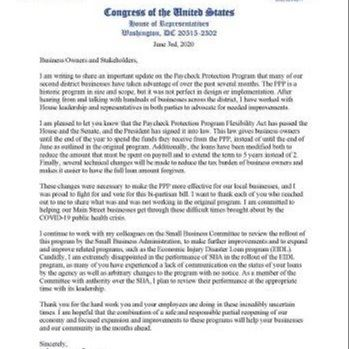 Image of Congresswoman Craig Letter