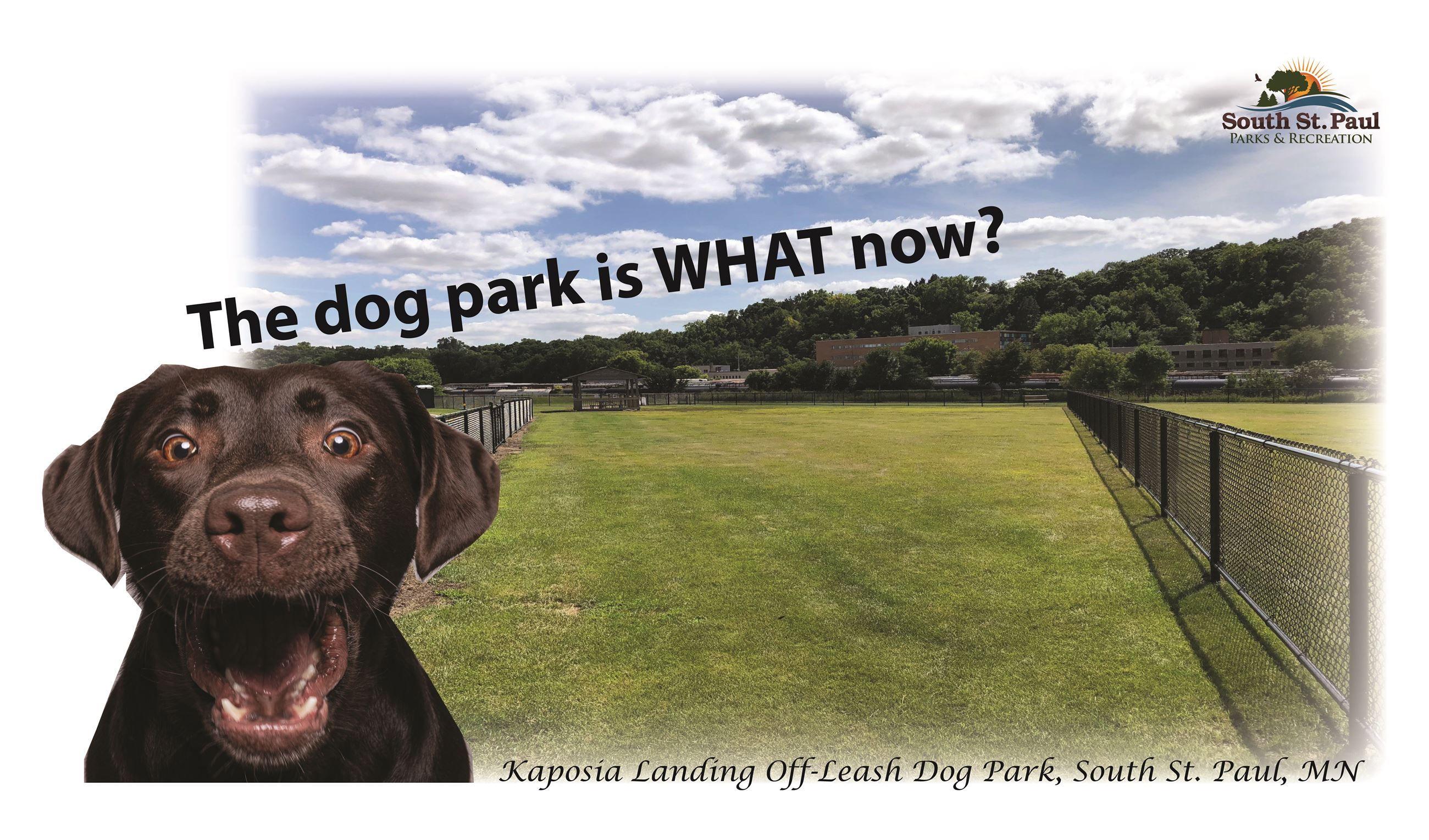 Dog Park Closed 3-5-2021 Field Conditions